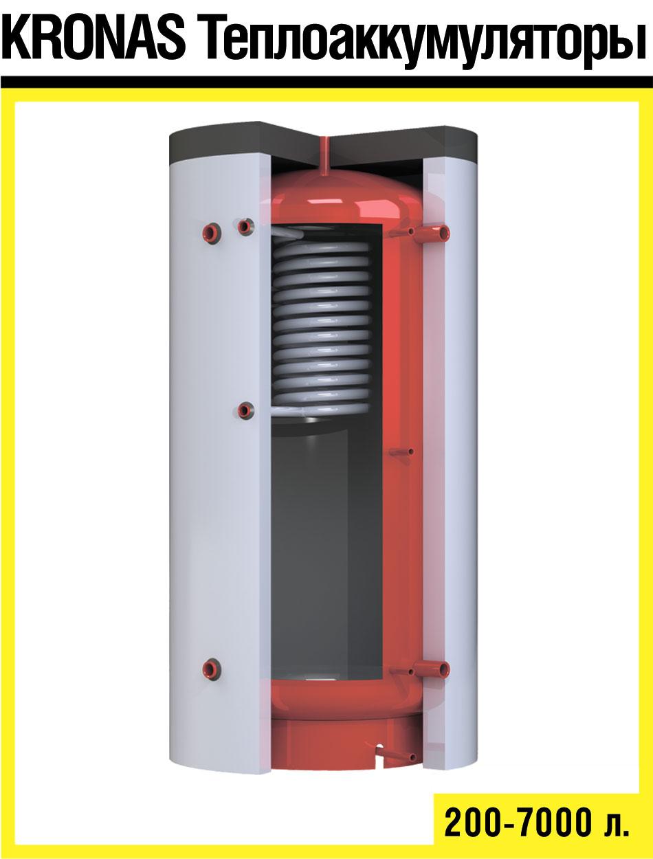 Теплоаккумулятор с теплообменником